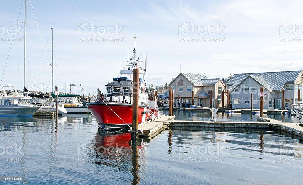 Marina at Campbell River stock photo