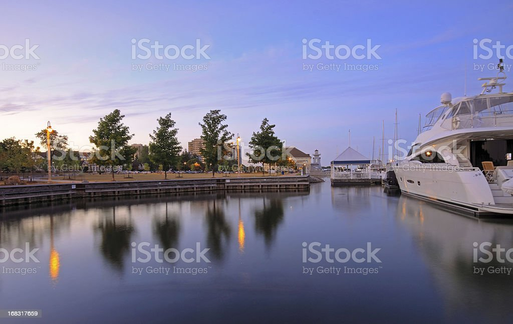 Marina at Dusk stock photo