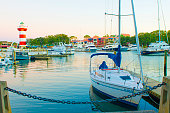 Marina at Harbortown-with lighthouse-Hilton Head Island-South Corali