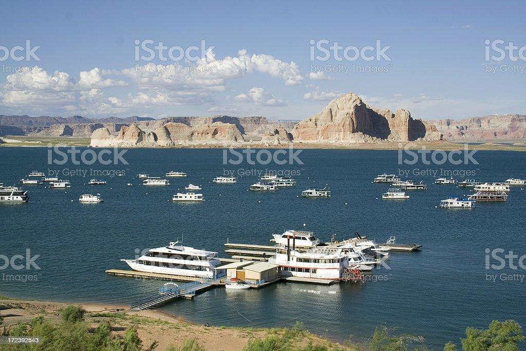 Marina at Lake Powell royalty-free stock photo