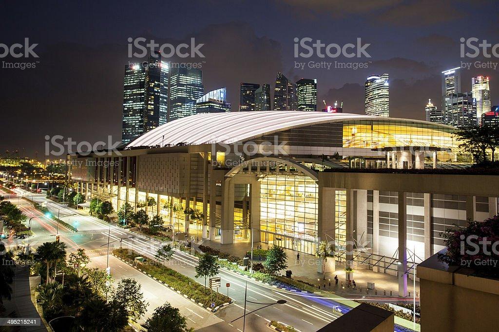 Marina Bay Sands Expo & Convention Centre stock photo