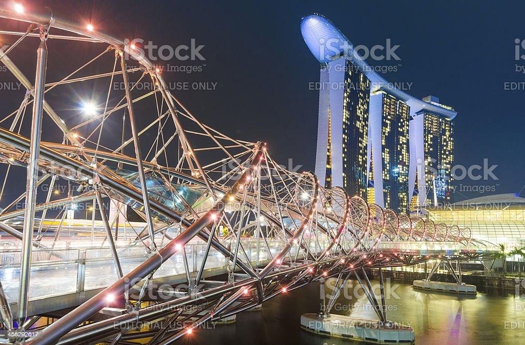 Marina Bay Sands Hotel Singapore royalty-free stock photo