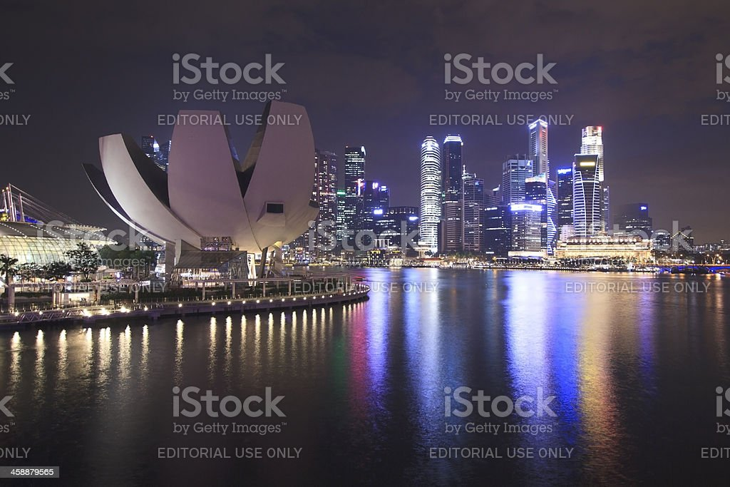 Marina Bay Sands Hotel, Singapore royalty-free stock photo