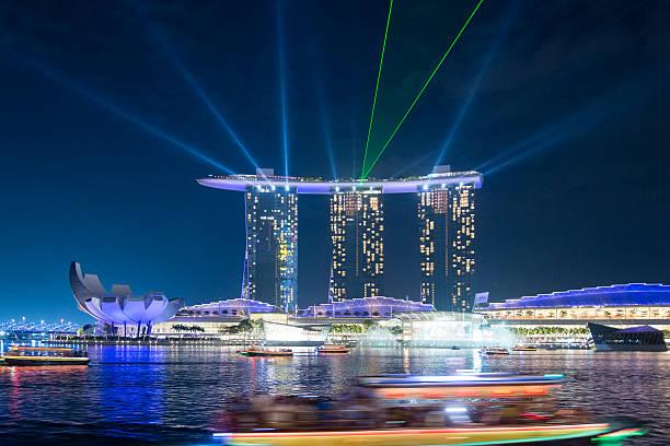 marina bay singapore - marina bay sands stock photos and pictures
