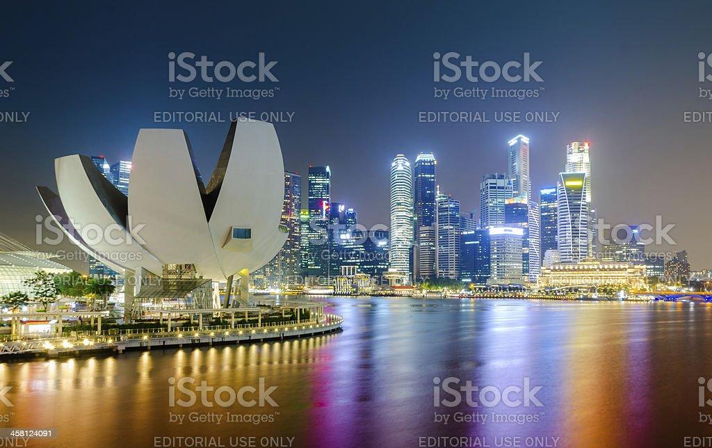 Marina Bay Singapore Urban Landscape royalty-free stock photo