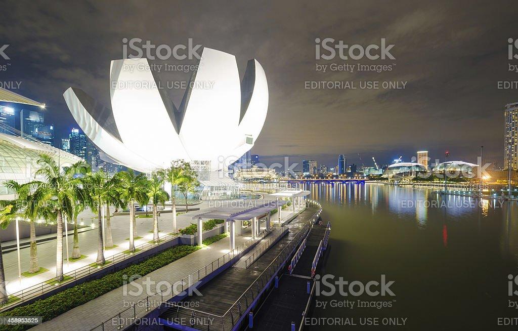 Marina Bay urban landscape in Singapore royalty-free stock photo