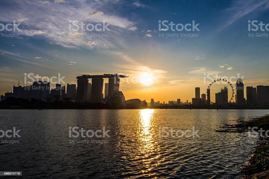 Marina Bay View of Singapore royalty-free stock photo