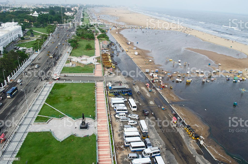 Marina Beach, Chennai, Tamil Nadu, India, Asia stock photo