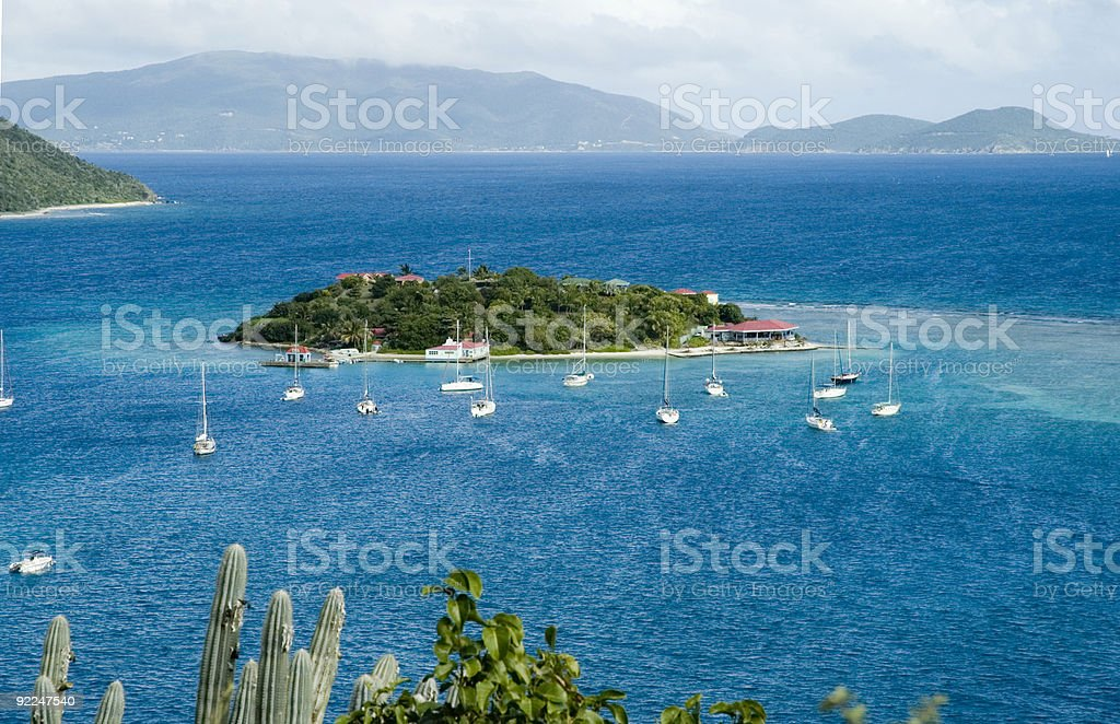 Marina Cay/British Virgin Islands stock photo