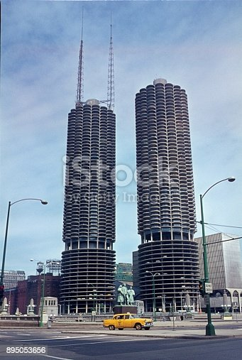 Chicago, Illinois, USA, 1968. Marina City.