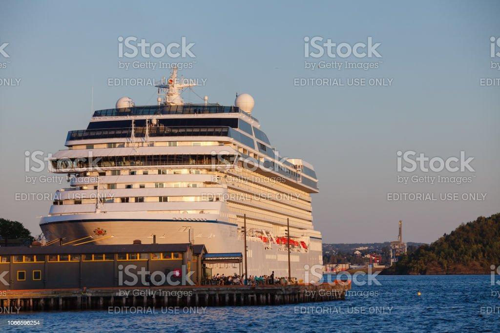 MS Marina cruise ship docked in Oslo Cruiseterminal near Akershus...