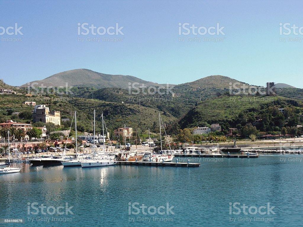 Marina di Camerota - Porto turistico stock photo