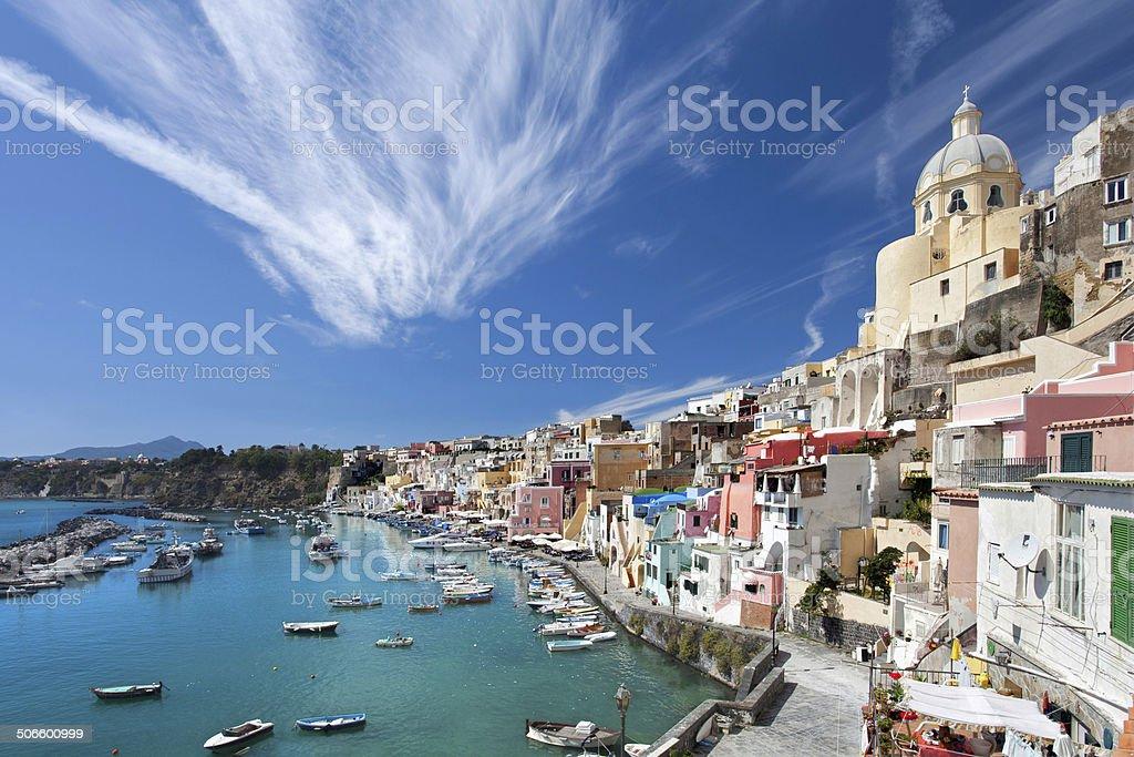 Marina di Coricella stock photo