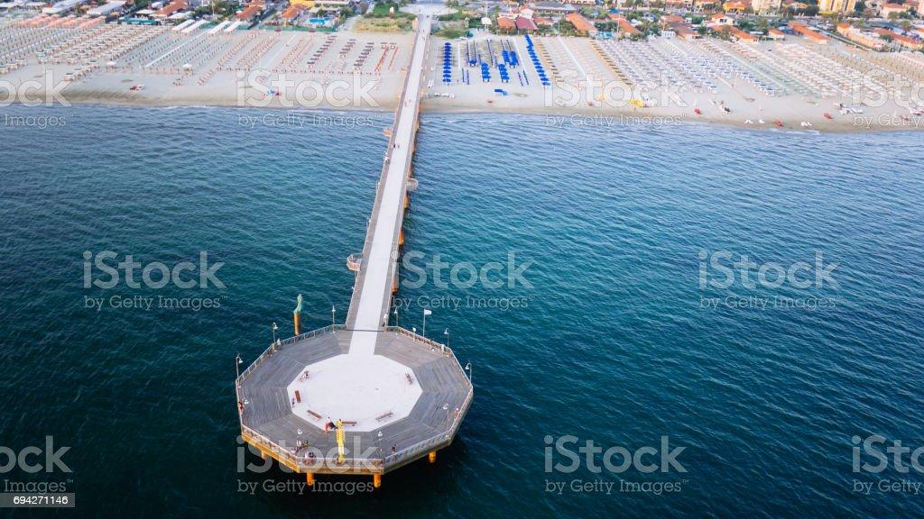Marina di pietrasanta, Italy stock photo