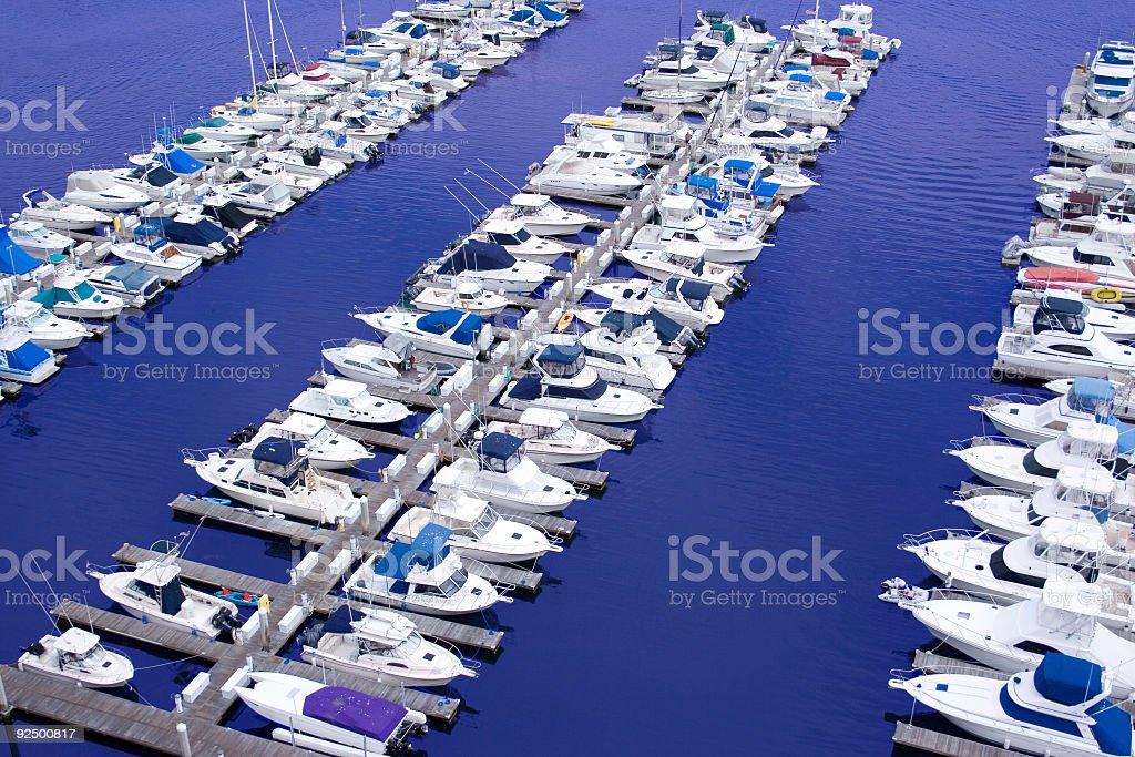 Marina full of boats royalty-free stock photo