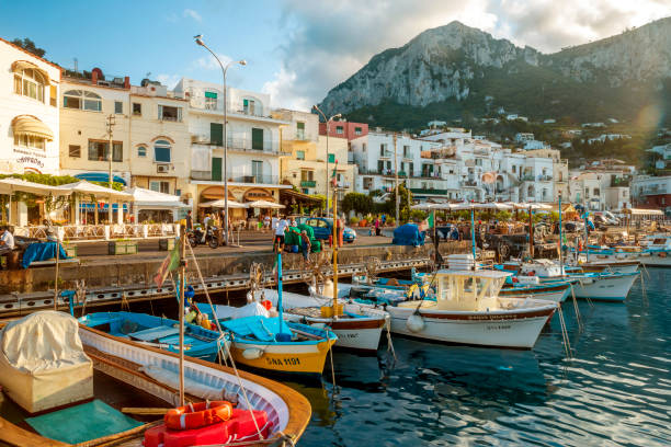 Marina Grande auf der Insel Capri, Italien – Foto