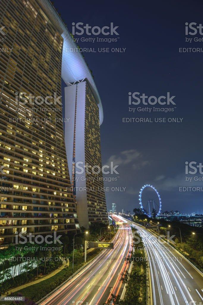 Marina highway stock photo