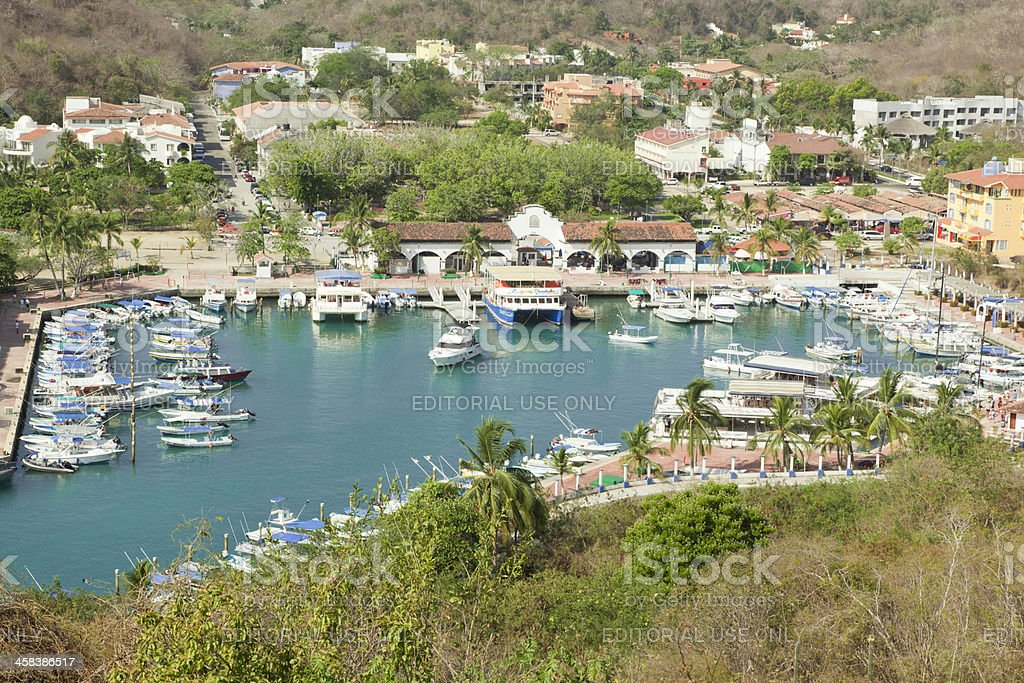 Marina, Huatulco, Mexico royalty-free stock photo