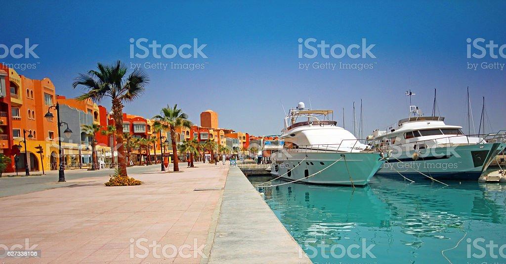 Marina, Hurghada, Egypt. stock photo