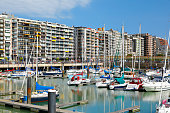Marina with holiday flats in Blankenberge, Belgium