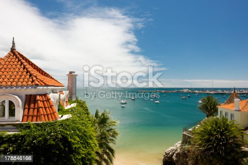 istock Marina in Cascais in Portugal at midday in summer 178846166