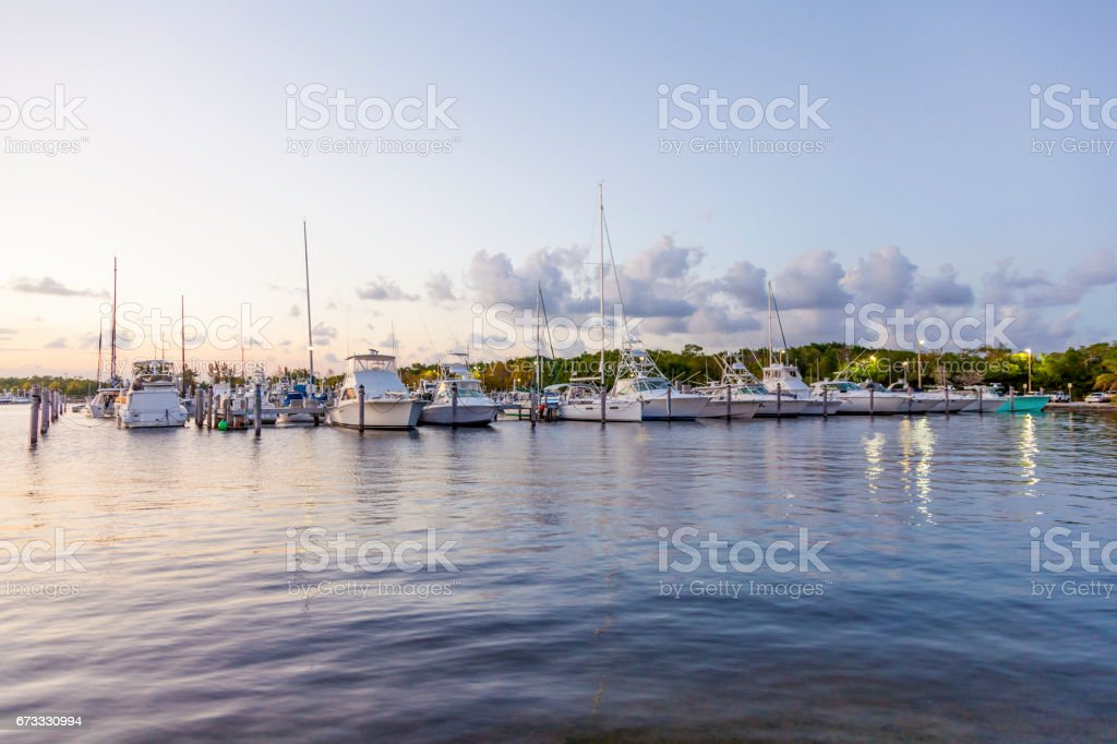 Marina in Coral Gables, Miami stock photo