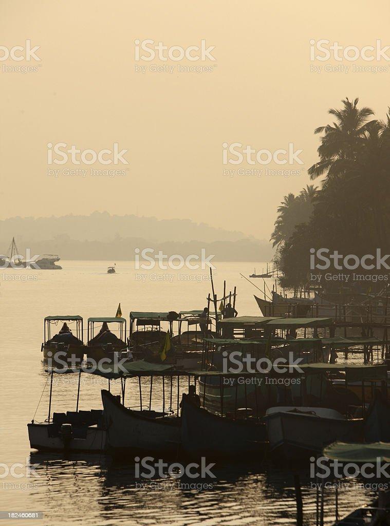 Marina in Goa stock photo