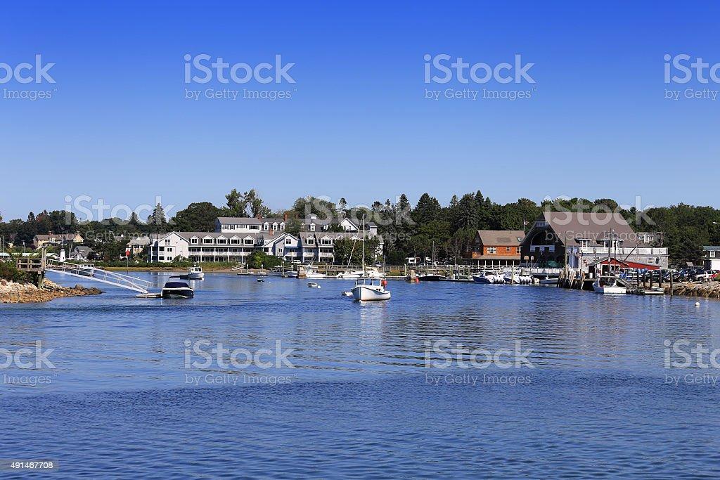 Marina in Kennebunkport, Maine, New England. stock photo
