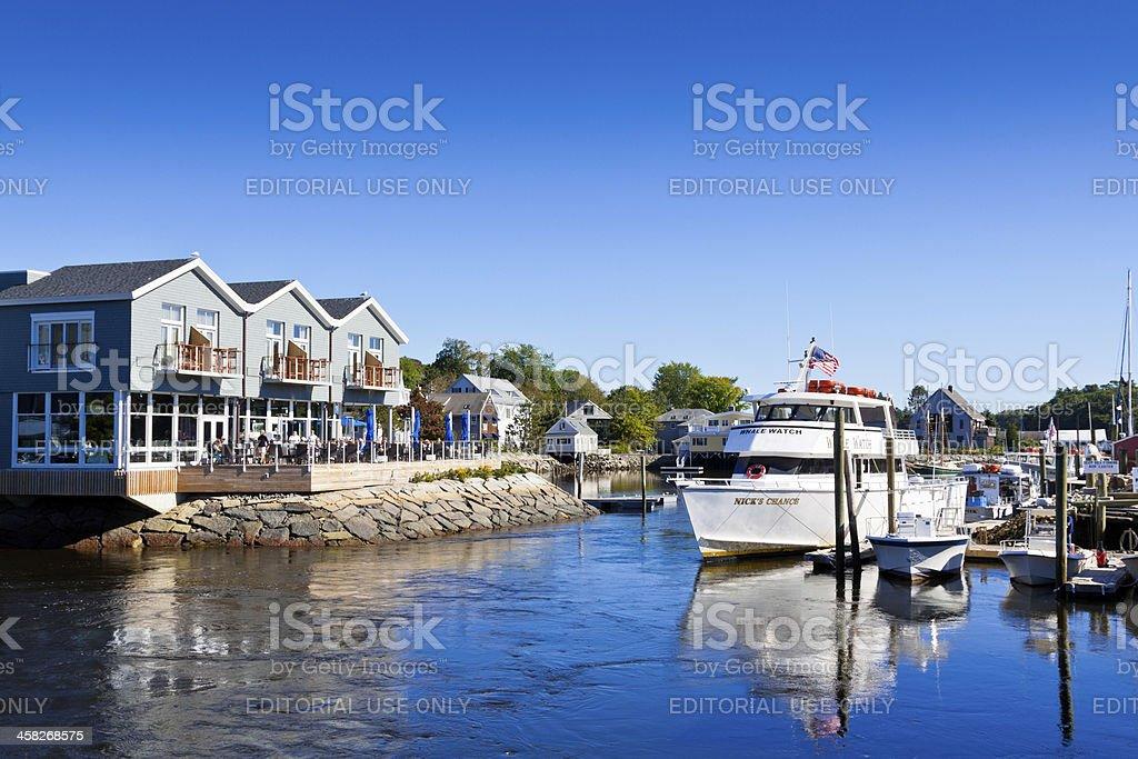 Marina in Kennebunkport, Maine. stock photo