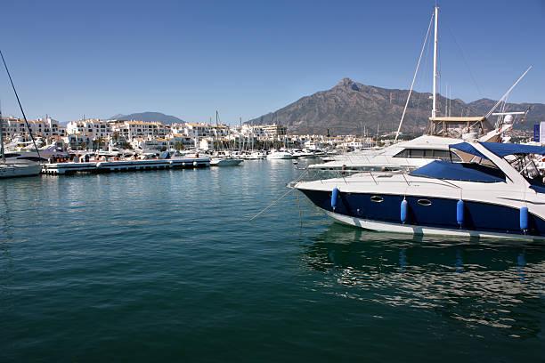 Marina in Puerto Banus, Marbella stock photo