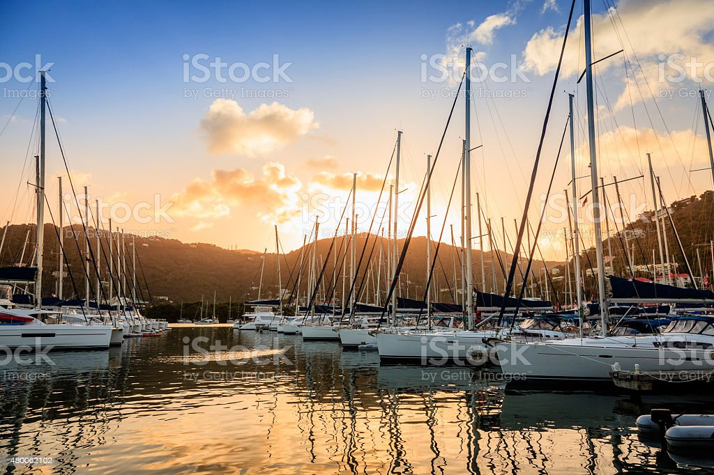 Marina in Tortola stock photo