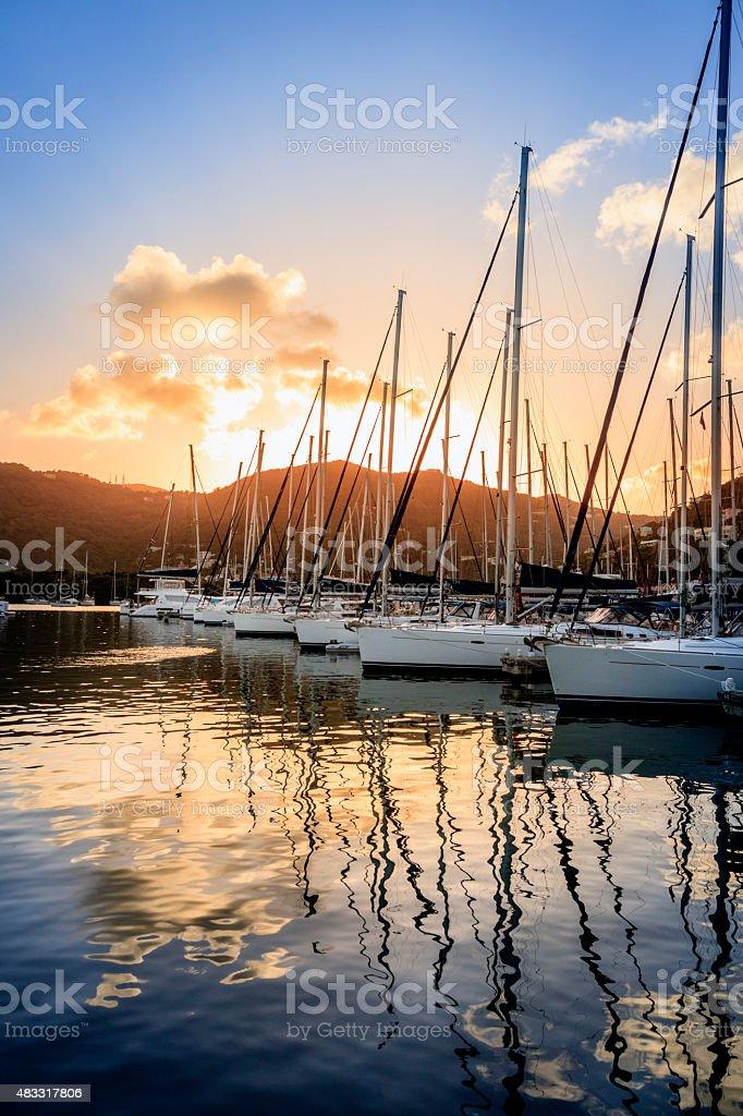 Marina in Tortola stock photo