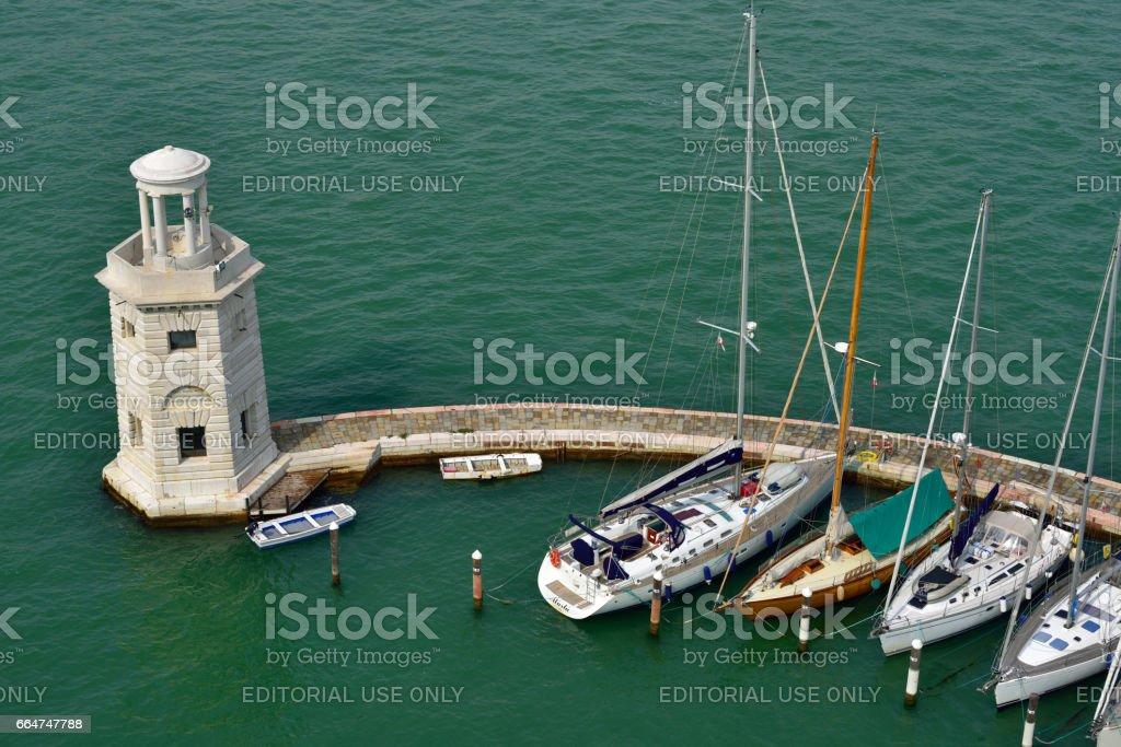 Marina in Venice stock photo