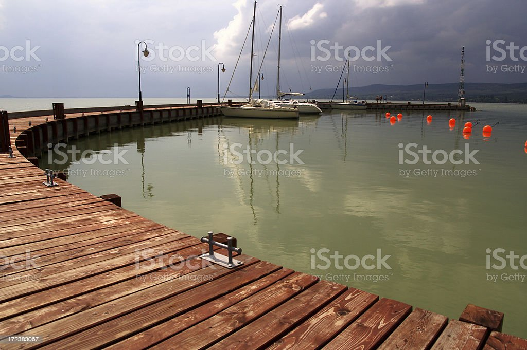 Marina just before the storm. royalty-free stock photo