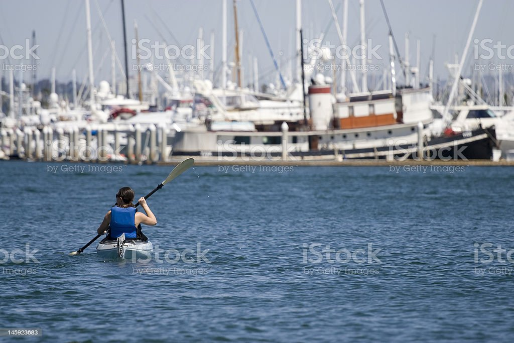 Marina Kayaking stock photo