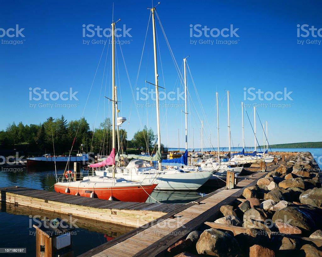 marina, Lake Superior stock photo