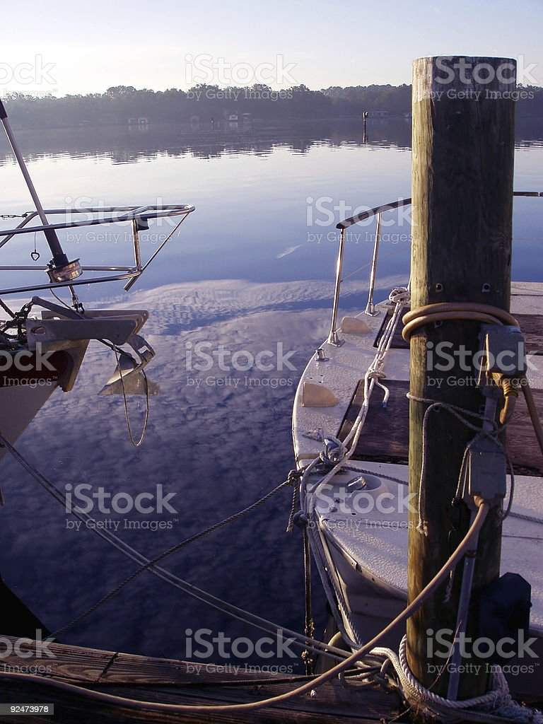 Marina Morning royalty-free stock photo