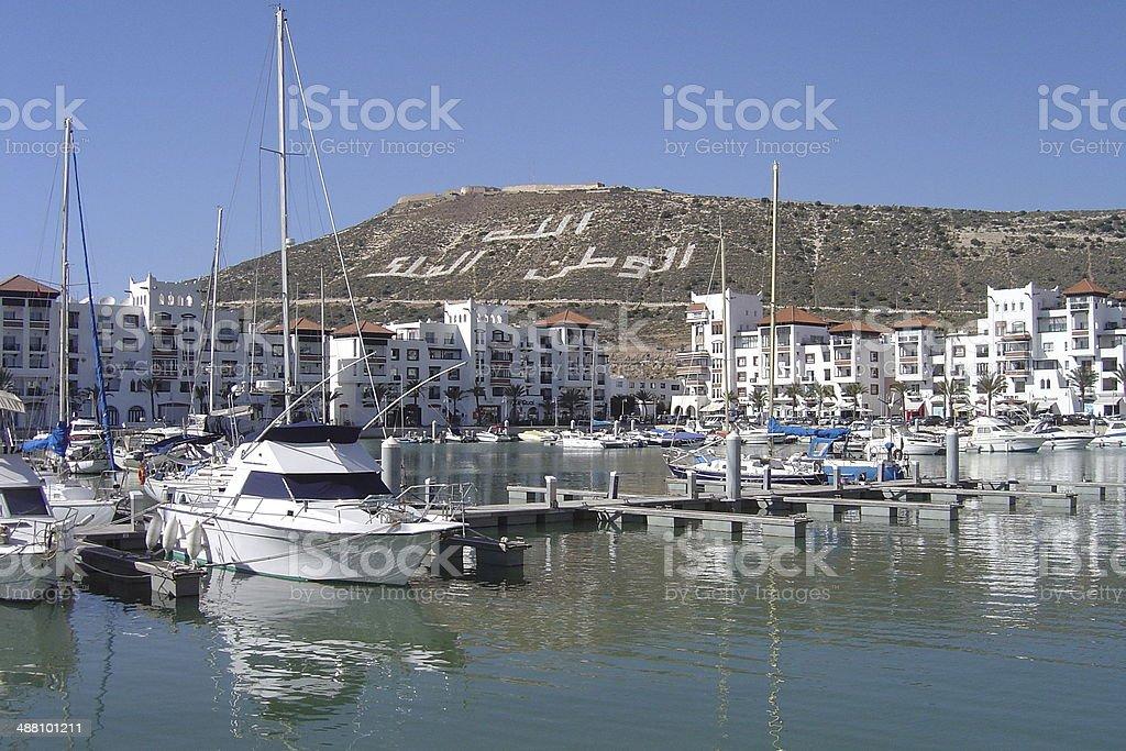 Marina of Agadir - Morocco stock photo