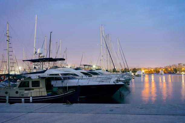Marina of Flisvos in Athens, Greece stock photo