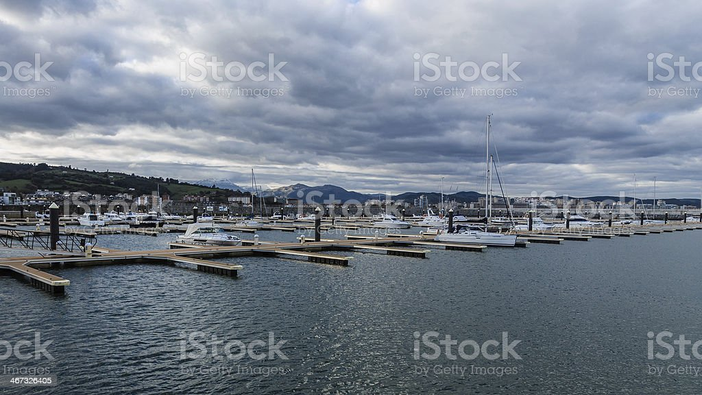 Marina of Laredo stock photo