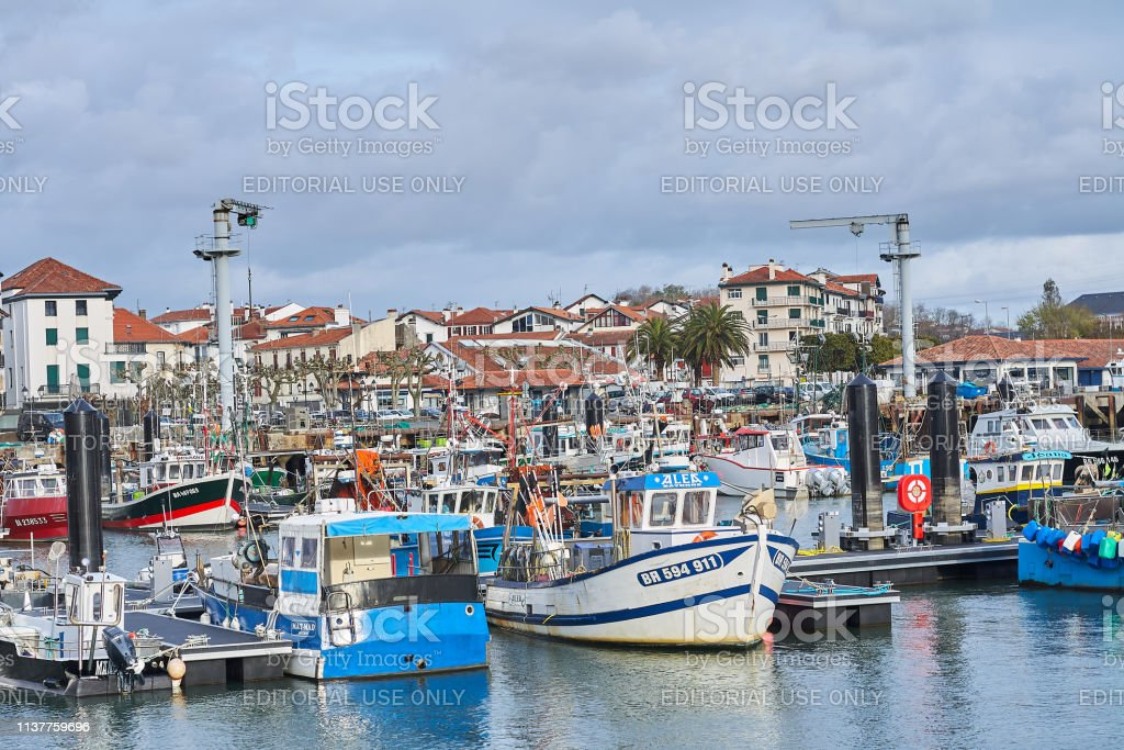 Marina of the city of Saint Jean de Luz, France;