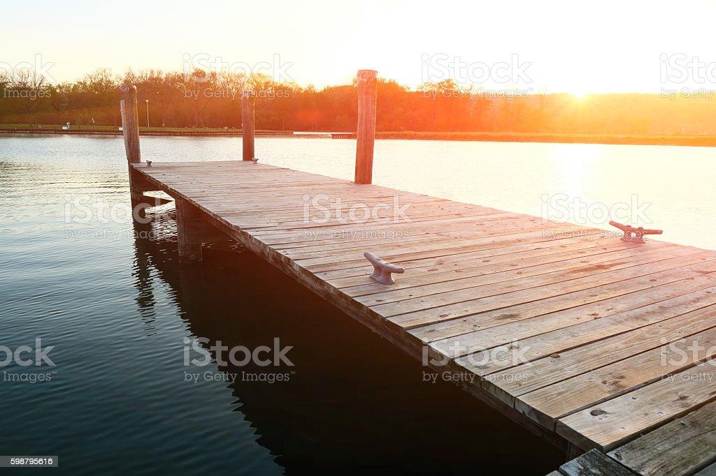 Marina on Lake Cayuga stock photo