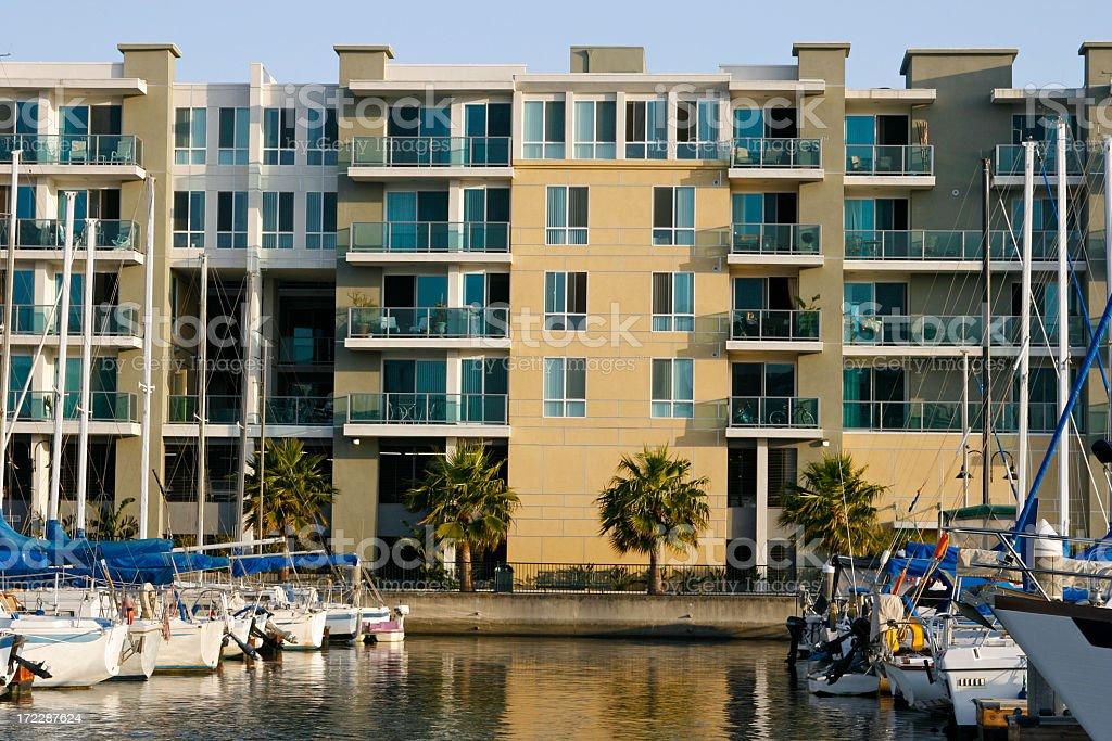 Marina Penthouses royalty-free stock photo