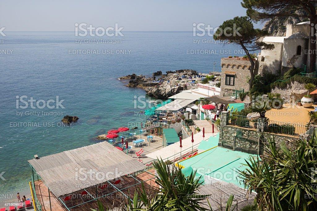 Marina Piccola in Capri, Italy royalty-free stock photo