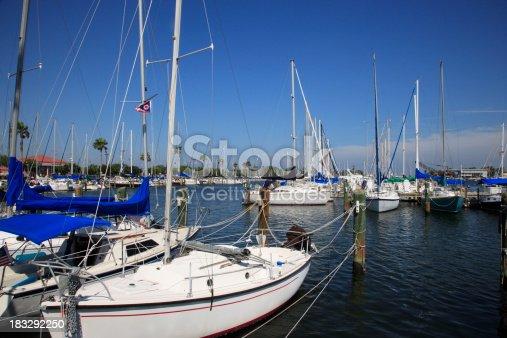 Sail boats in Marina