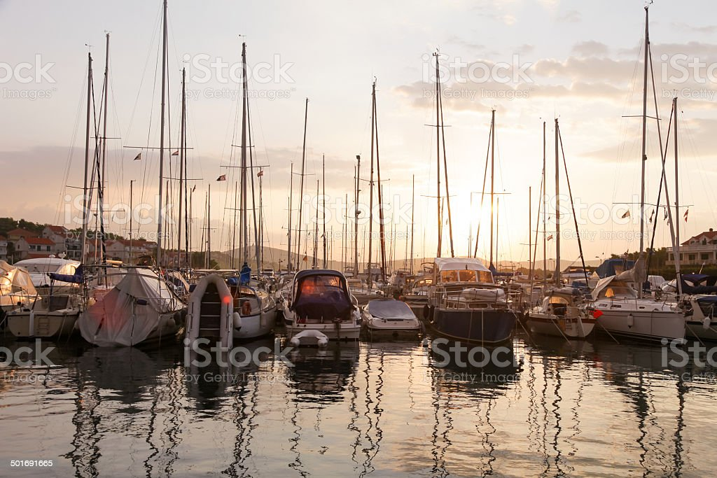 Marina stock photo