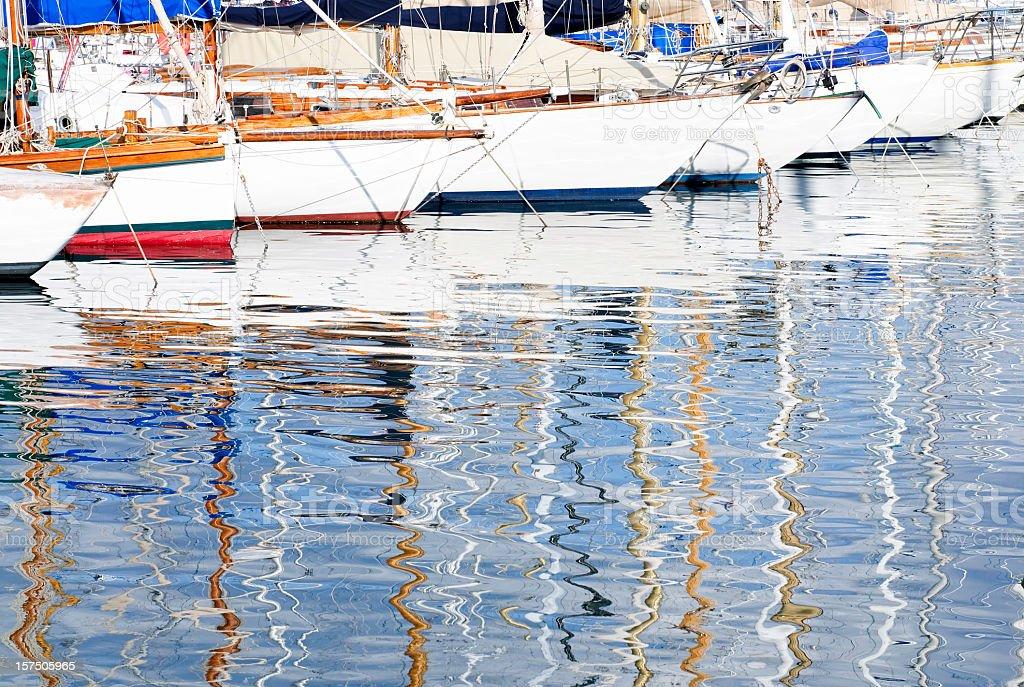Marina Reflections royalty-free stock photo