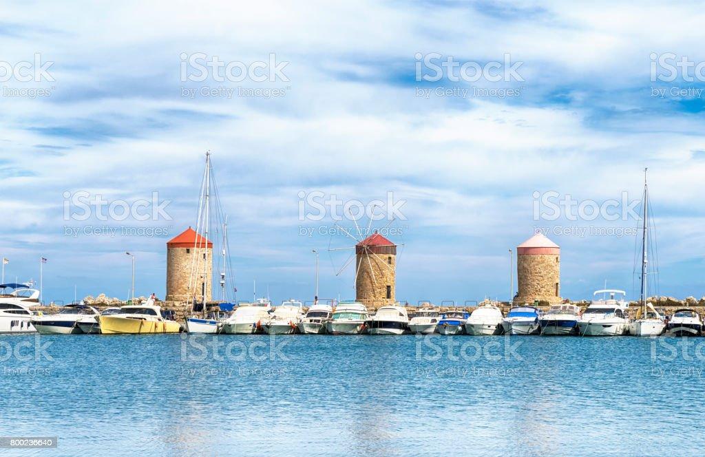 Marina, Rhodes. stock photo