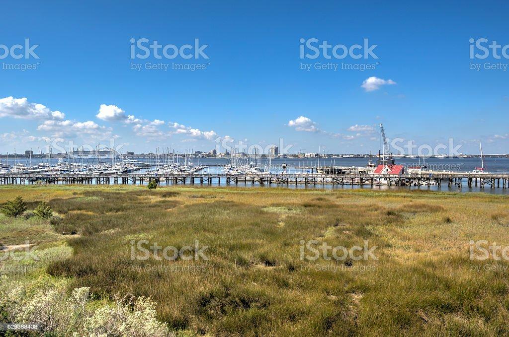 Marina Wide Angle stock photo