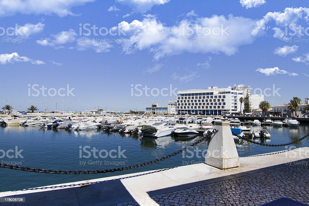 marina with recreational boats royalty-free stock photo